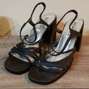 Report Black Strappy Sandals-Size 10